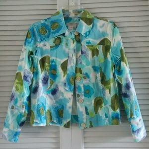 Coldwater Creek watercolor jacket. PXS